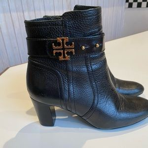 Beautiful Tory Burch Black Ankle Boots Heels 6.5